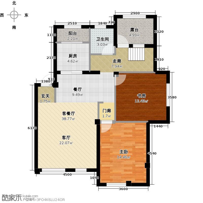 康华朗香邸134.00㎡B5户型3室2厅2卫