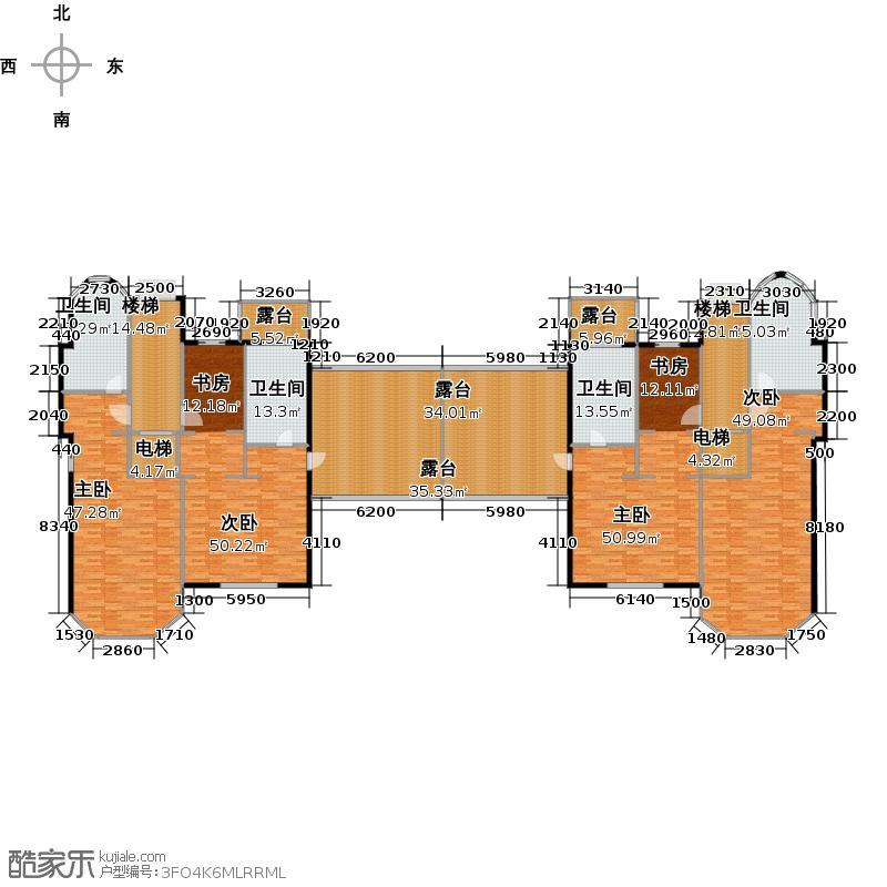 碧桂园银河城钻石墅395.78㎡G68三层户型10室