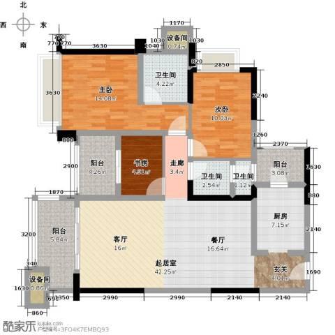 雅居乐凯茵又一城3室2厅2卫0厨112.00㎡户型图