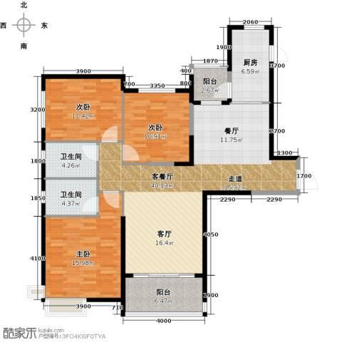 哈尔滨恒大绿洲3室2厅2卫0厨149.00㎡户型图