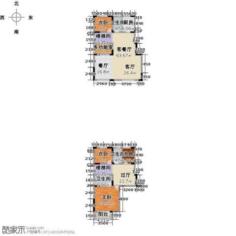 沽上江南3室3厅3卫0厨183.37㎡户型图