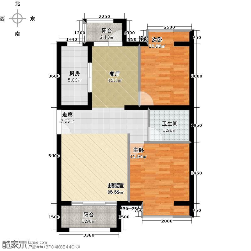 中海紫御公馆91.41㎡6#楼B2户型10室