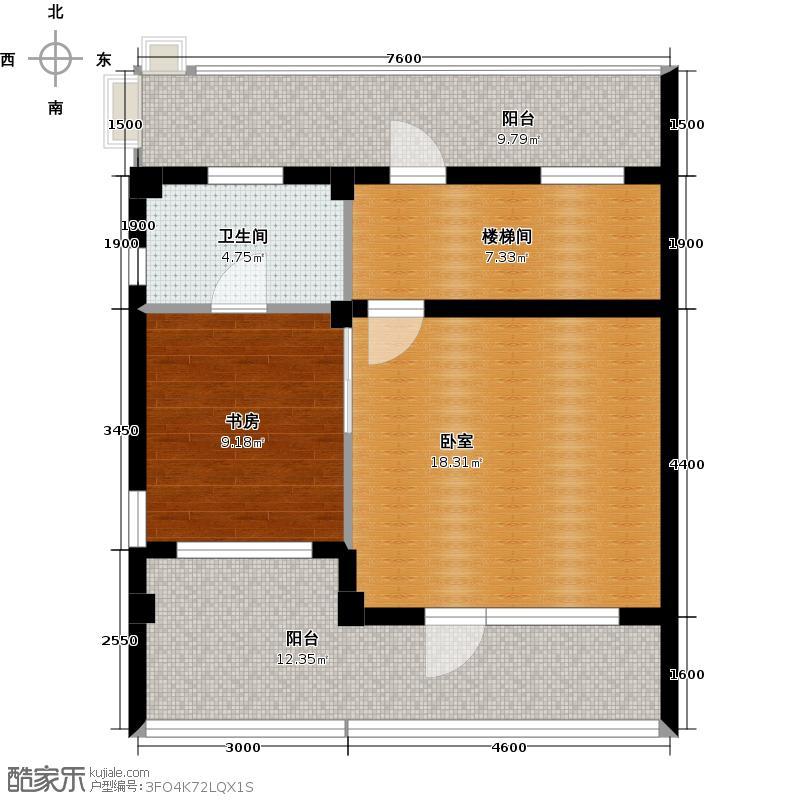 华茂中心55.00㎡别墅k1地上三层户型1室1厅1卫