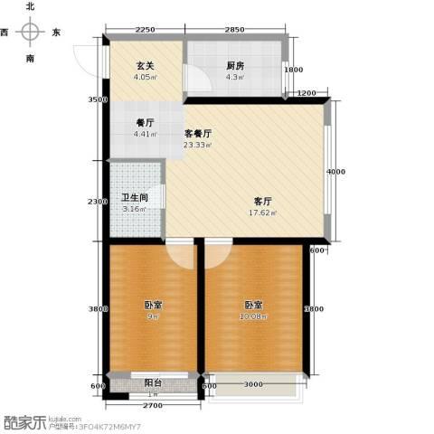 华茂中心2室2厅1卫0厨72.00㎡户型图