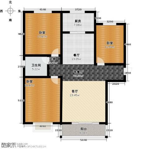 在水一方颂荷3室2厅1卫0厨164.00㎡户型图