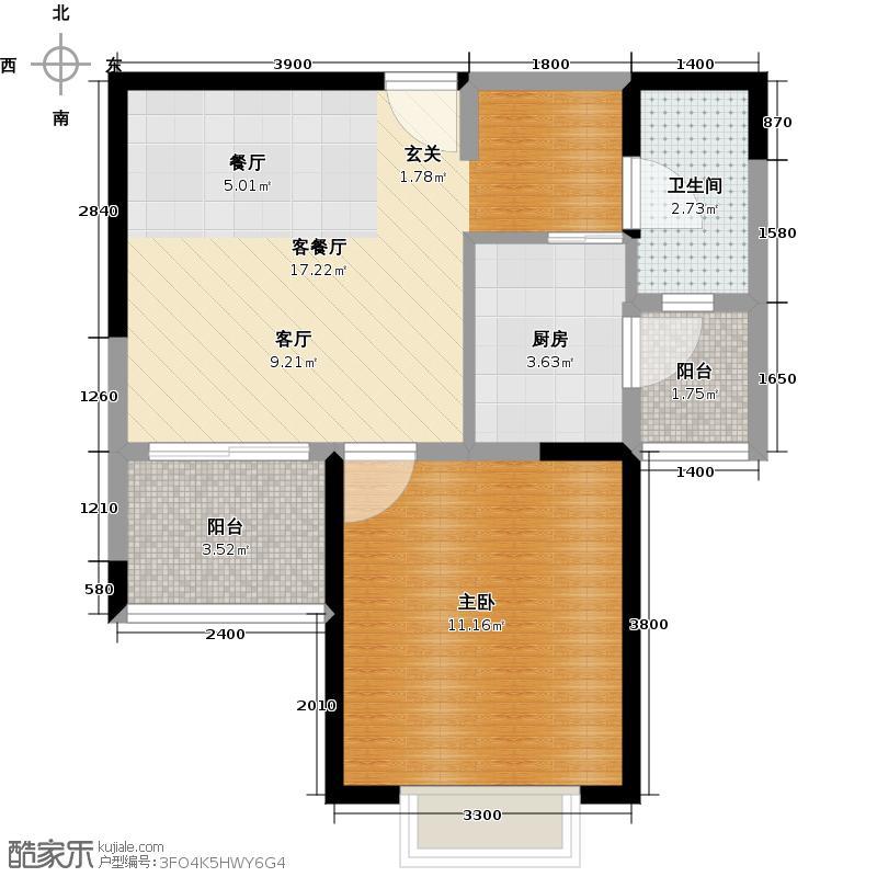 西锦国际广场51.00㎡2期3号楼C3户型10室