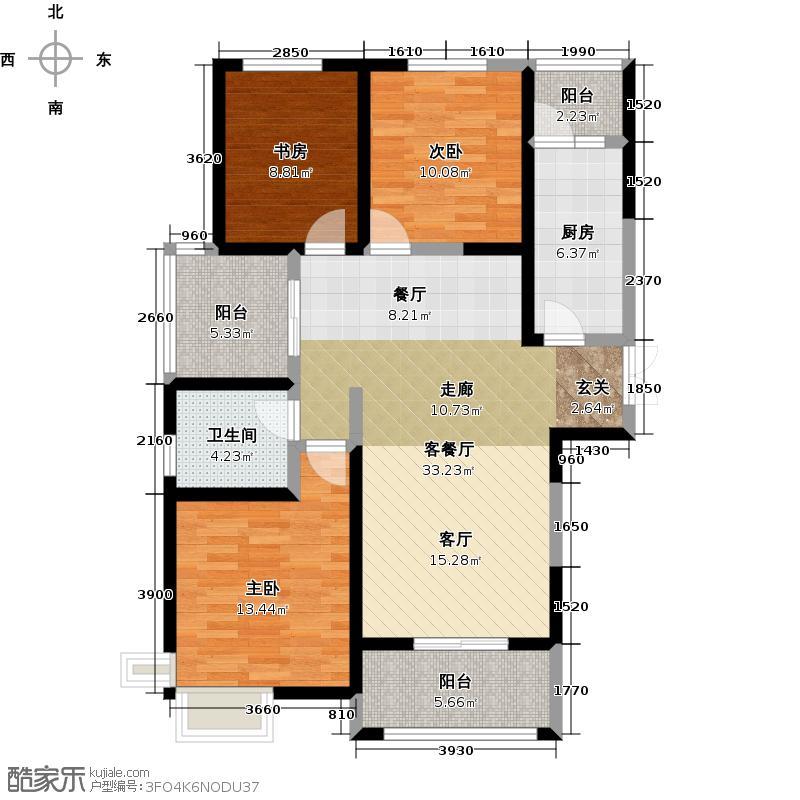 金泰新理城126.00㎡户型3室2厅1卫