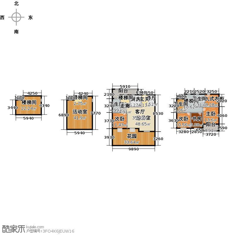 绿城・玉兰花园・臻园271.60㎡预售Y6户型10室