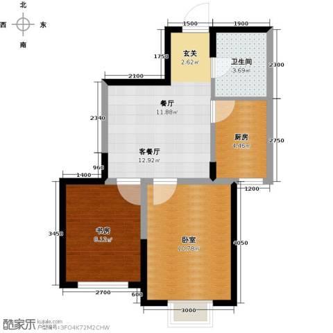 华茂中心2室1厅1卫0厨57.00㎡户型图