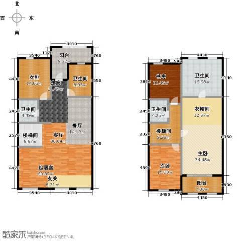 绿城玉兰花园・臻园4室2厅3卫0厨220.00㎡户型图
