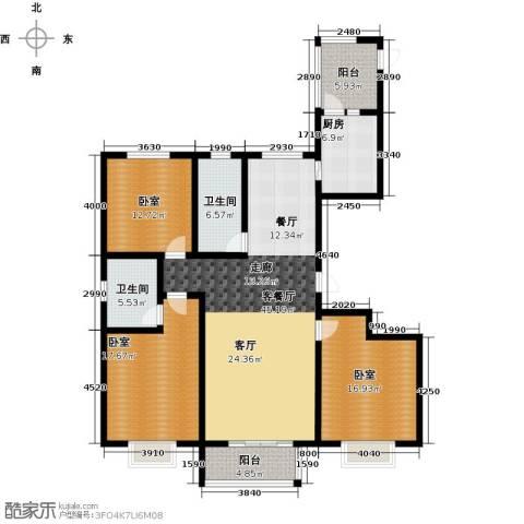 在水一方颂荷3室2厅2卫0厨139.00㎡户型图