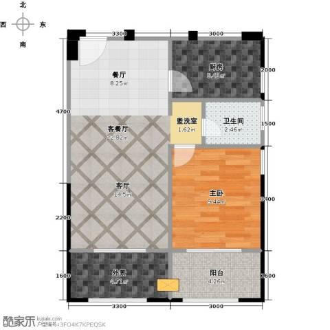 中誉南岸公馆67.00㎡户型图