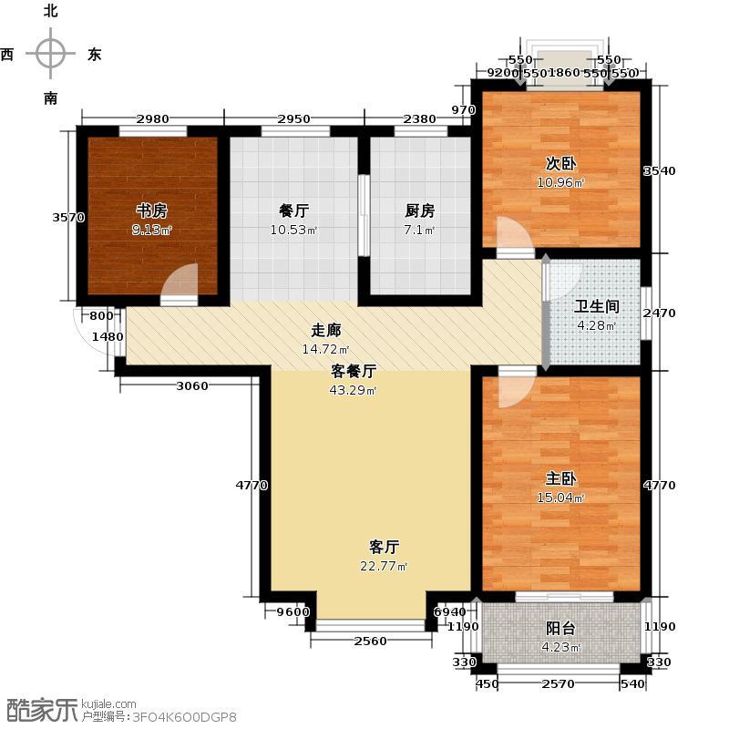 胜宏景苑124.00㎡C5户型2室2厅1卫