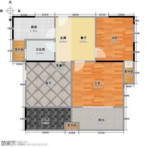 中誉南岸公馆95.00㎡户型图