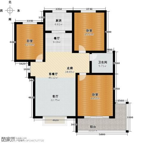 在水一方颂荷3室2厅2卫0厨130.00㎡户型图