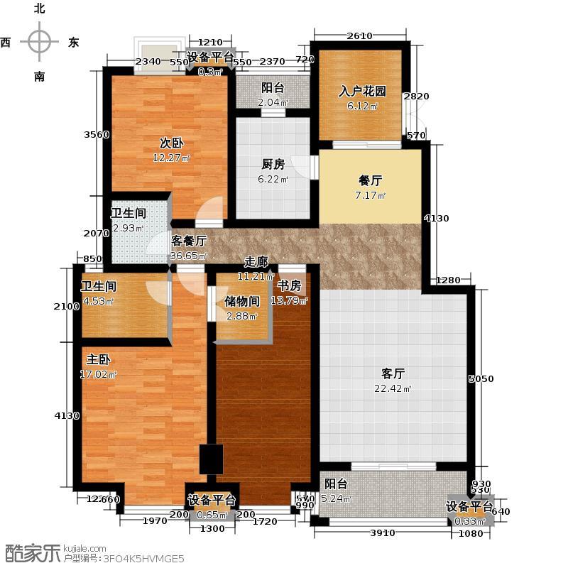 天朗西子湖140.58㎡B5户型3室1厅2卫1厨