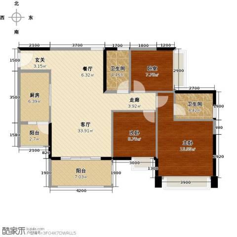 大信君汇湾3室2厅2卫0厨117.00㎡户型图
