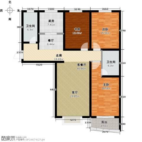 绿都皇城3室2厅2卫0厨132.00㎡户型图