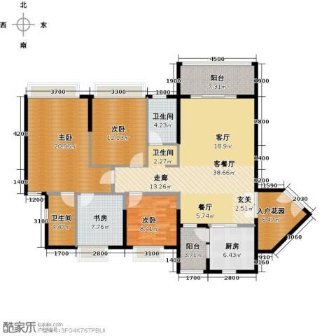 锦江国际新城4室2厅2卫0厨136.00㎡户型图