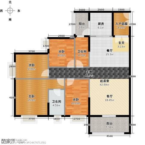 锦江国际新城4室2厅2卫0厨137.00㎡户型图