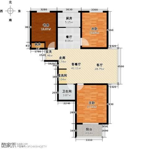 水印城3室2厅2卫0厨110.00㎡户型图