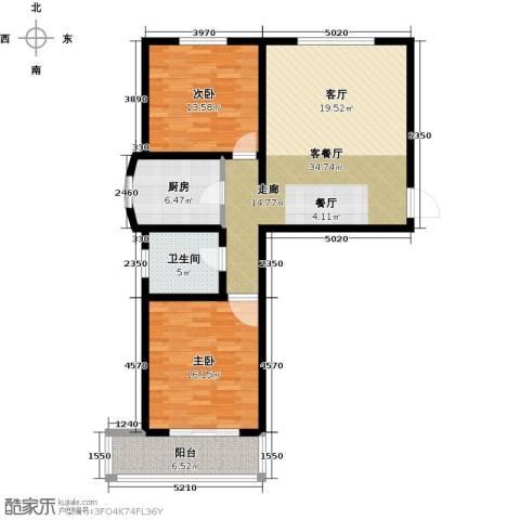 绿都皇城2室2厅1卫0厨89.00㎡户型图