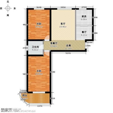绿都皇城2室2厅1卫0厨101.00㎡户型图