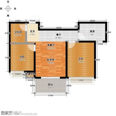 凯旋新城・嘉苑2室2厅1卫0厨85.00㎡户型图