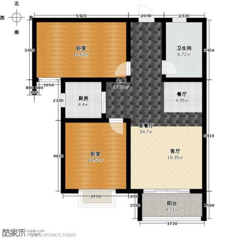 在水一方颂荷2室2厅1卫0厨115.00㎡户型图