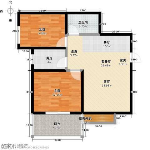 凯旋新城・嘉苑2室2厅1卫0厨90.00㎡户型图