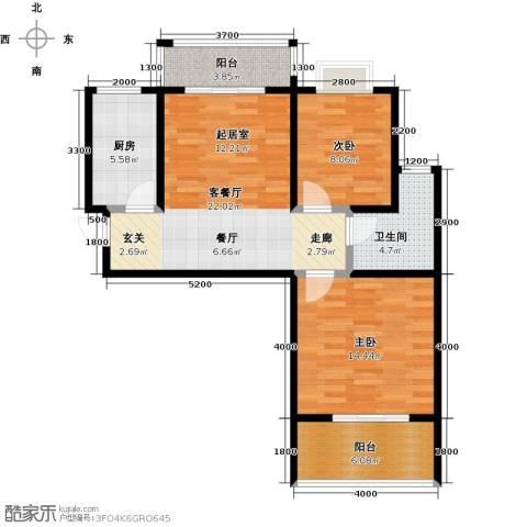 凯旋新城・嘉苑2室2厅1卫0厨92.00㎡户型图