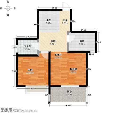 凯旋新城・嘉苑1室2厅1卫0厨74.00㎡户型图