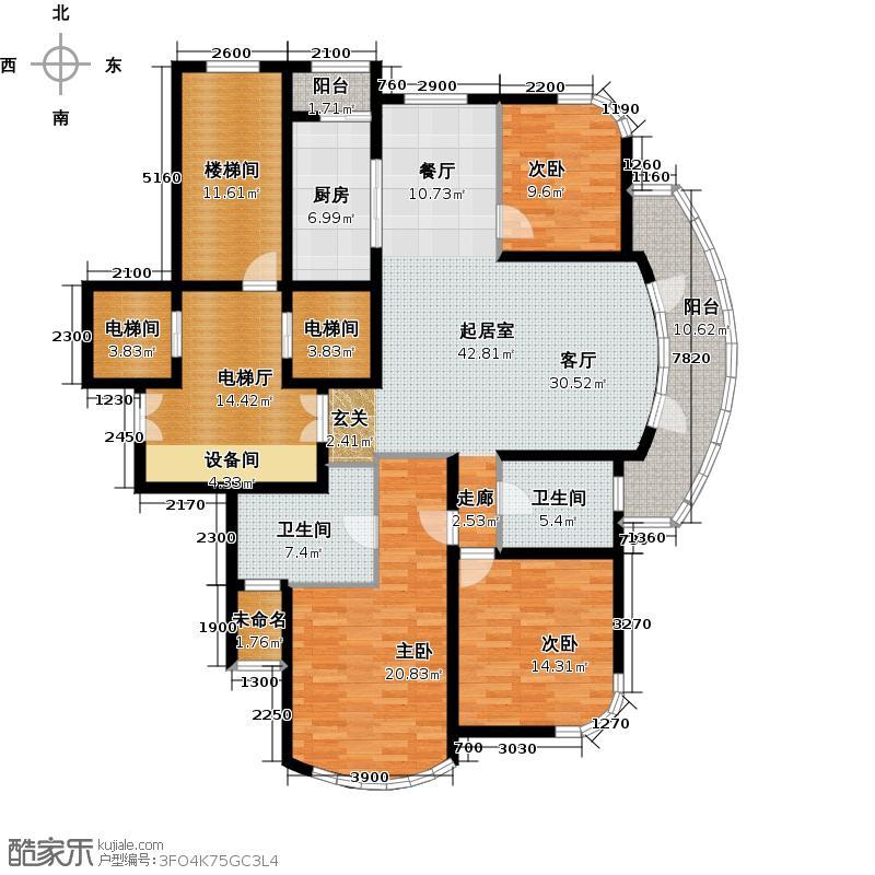 绿城西子・锦兰公寓177.52㎡户型10室