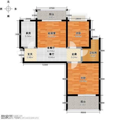 凯旋新城・嘉苑2室2厅1卫0厨93.00㎡户型图