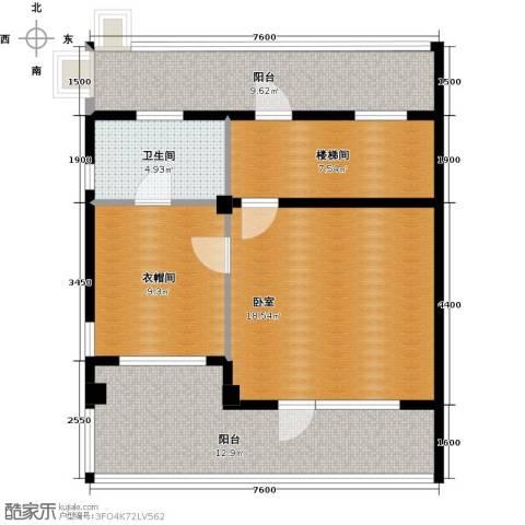 华茂中心1室1厅1卫0厨62.85㎡户型图