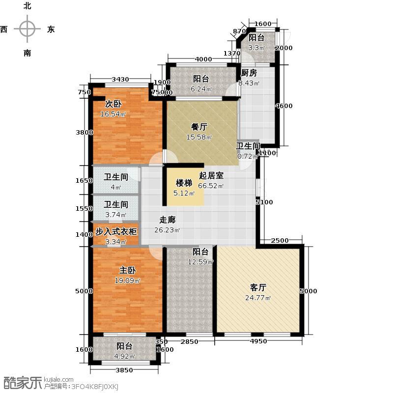 中海紫御公馆283.00㎡C11号楼复式下层户型10室