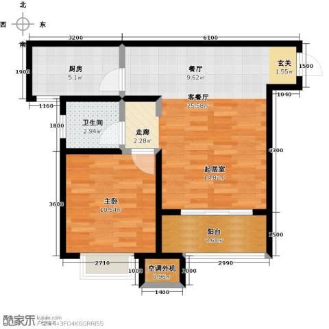 凯旋新城・嘉苑1室2厅1卫0厨71.00㎡户型图