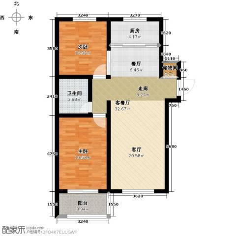 公园里2室2厅1卫0厨96.00㎡户型图