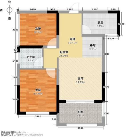 中祥玖珑湾88.00㎡户型图