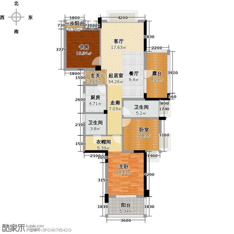 中港・金岸提香120.00㎡G6户型3室2厅2卫