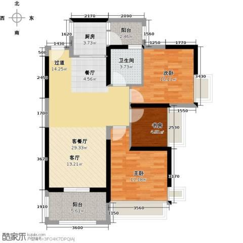 远洋城天曜3室2厅1卫0厨95.00㎡户型图