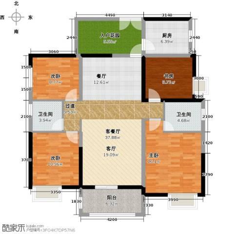 远洋城4室2厅2卫0厨140.00㎡户型图