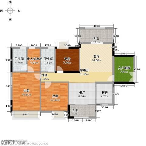 远洋城天曜3室2厅2卫0厨129.00㎡户型图