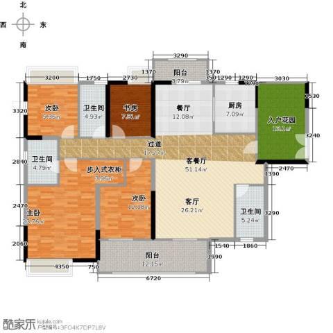 远洋城4室2厅3卫0厨180.00㎡户型图