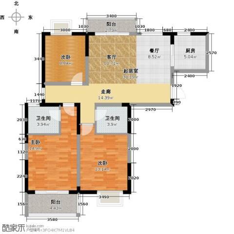 彩虹湖3室2厅2卫0厨132.00㎡户型图