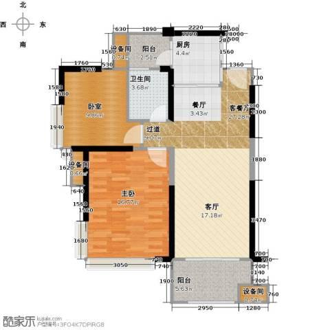 远洋城天曜2室2厅2卫0厨89.00㎡户型图