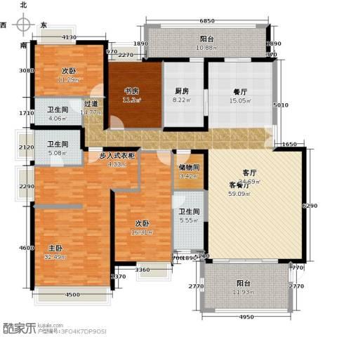 远洋城4室2厅3卫0厨225.00㎡户型图
