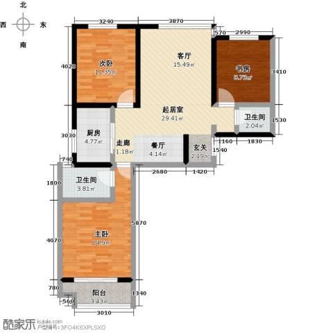 良城国际2室2厅1卫0厨115.00㎡户型图