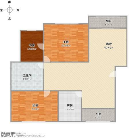 一品新筑苑3室1厅1卫1厨164.81㎡户型图