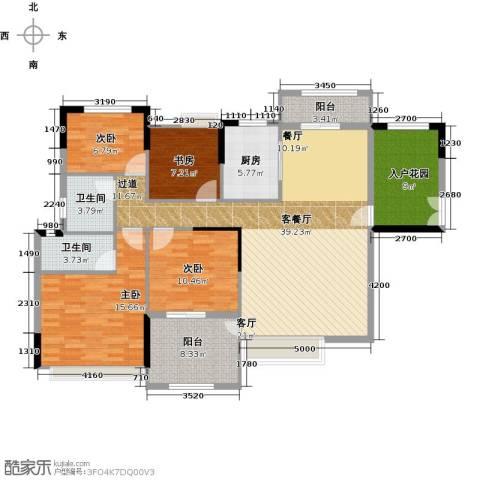 远洋城天曜4室2厅2卫0厨155.00㎡户型图